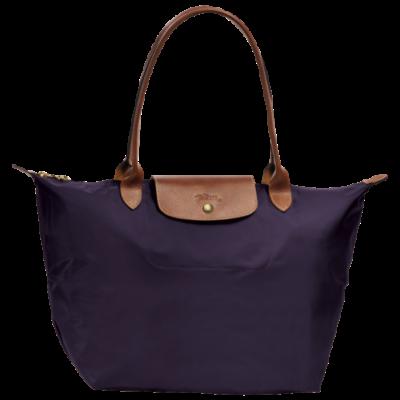 Sac pour shopping L Le Pliage de Longchamp couleur Navy