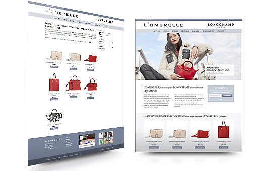 visuel site interent du magasin L'Ombrelle à Quimper