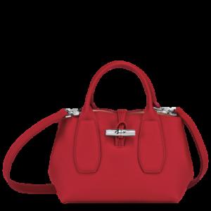 Sac à mains S Roseau HPN de Longchamp en rouge