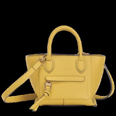 Sac porté main S Mailbox couleur jaune de chez Longchamp