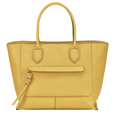 Sac à main mailbox L de Longchamp couleur jaune