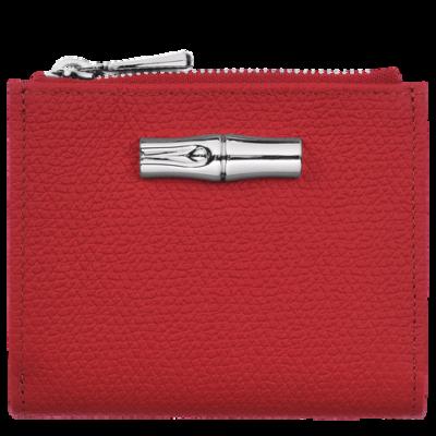 Portefeuille compact Roseau HPN couleur rouge de Longchamp