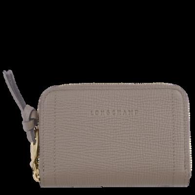 Porte monnaie Mailbox de Longchamp couleur taupe