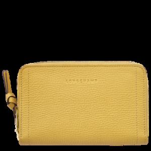Portefeuille compact Mailbox Longchamp en jaune