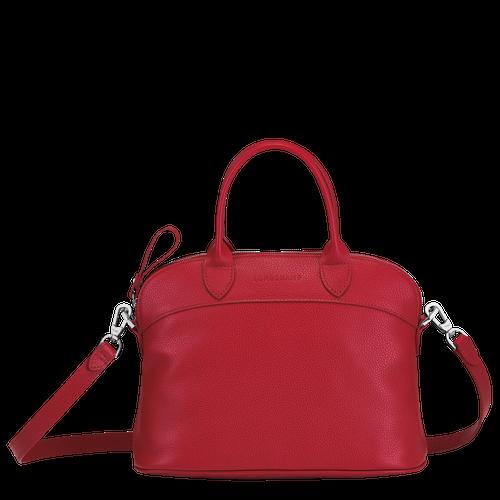 Sac à main Le Foulonné de Longchamp couleur rouge