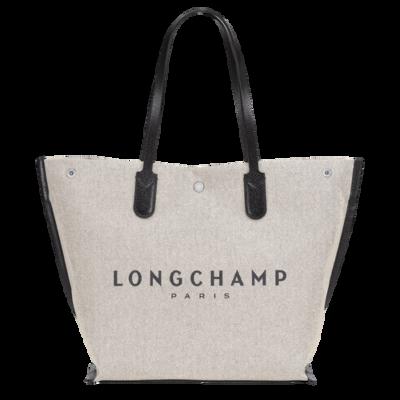 Roseau Essential Longchamp sac porté shopping L écru