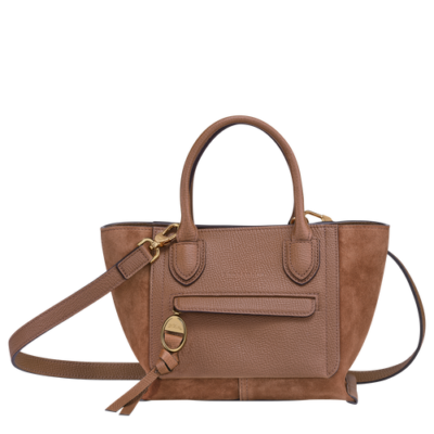 Mailbox Soft Longchamp sac porté main S Cognac