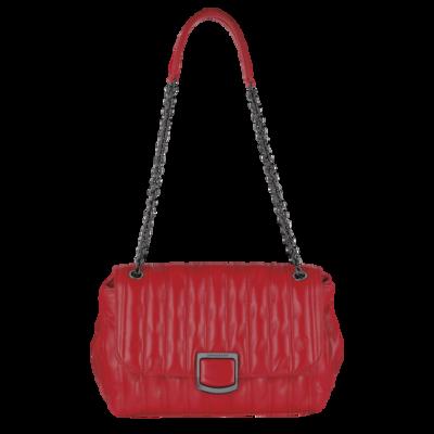 Brioche sac porté travers M Longchamp Rouge
