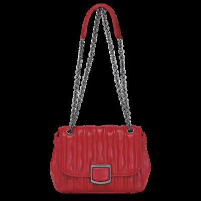 Brioche sac porté travers Longchamp S Rouge
