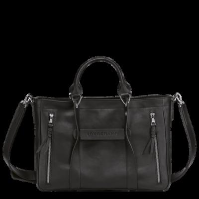 3D Perfecto Longchamp sac porté main Noir