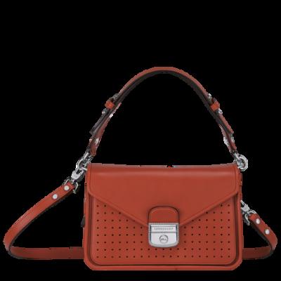 Mademoiselle Longchamp sac porté travers Longchamp coquelicot