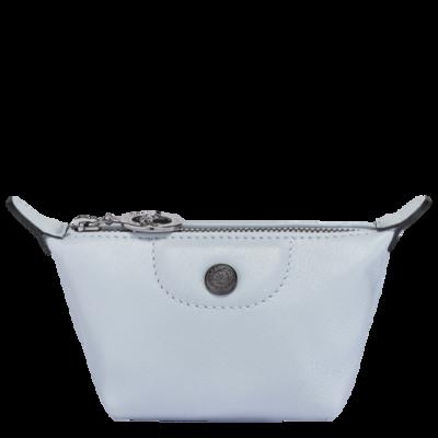 Le Pliage Cuir Longchamp porte-monnaie Ciel